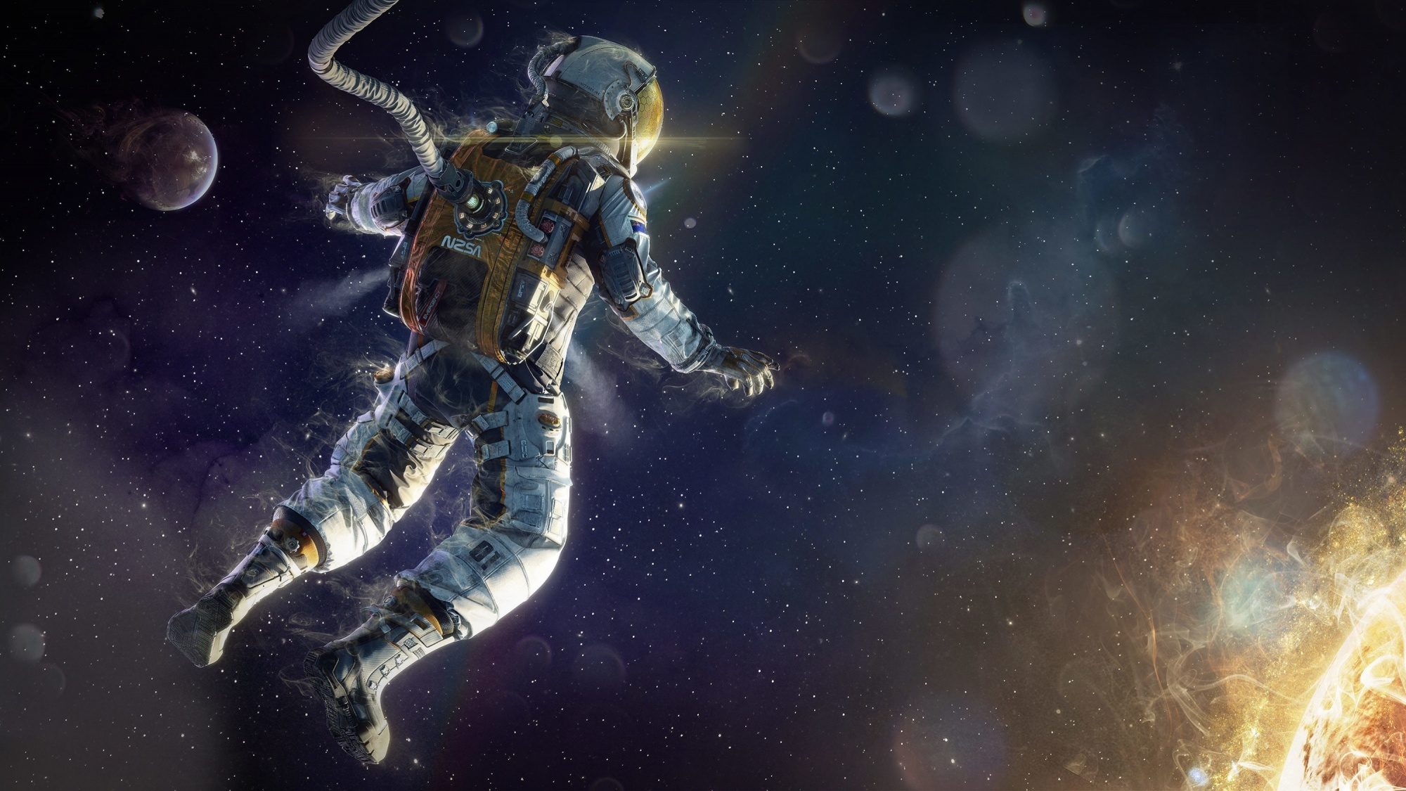 Nasa astronaut covers up evidence of flashing lights